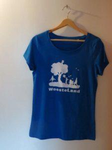 Voorkant t-shirt blauw