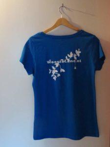 Achterkant t-shirt blauw