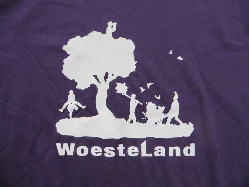 Voorkant ontwerp T-shirt Woesteland, 2016 - In opdracht