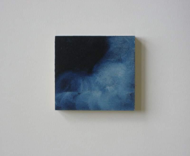 Z.t., 2012, 5,5×6 cm, ei tempera op paneel - Verkocht