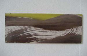 Z.t., 2012, 15,9×41,8 cm, ei tempera op paneel