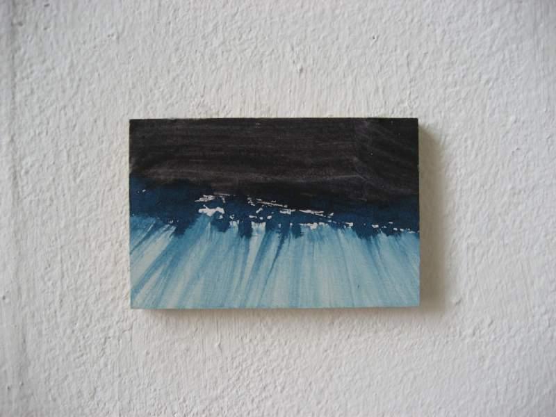 Z.t., 2012, 5,8×8,9 cm, ei tempera op paneel