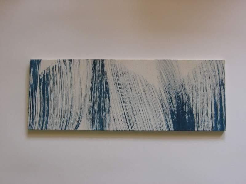 Z.t., 2012, 12,8×35,5 cm, ei tempera op paneel