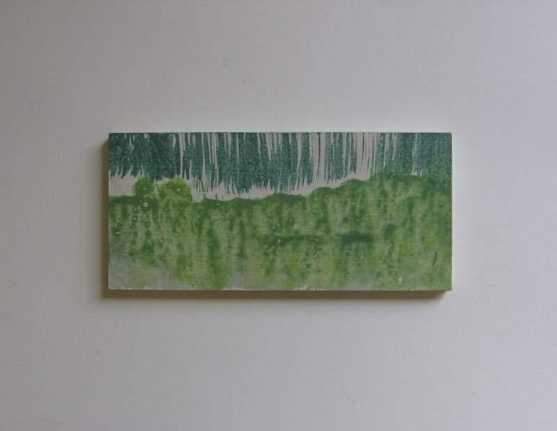 Z.t., 2012, 5,7×12,5 cm, ei tempera op paneel