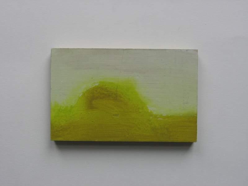 Z.t., 2012, 7×12 cm, ei tempera op paneel