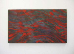 Verkocht: Z.t., 2012, 73×128 cm, ei tempera op doek