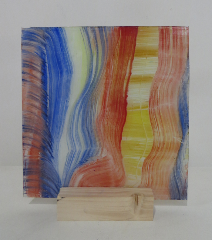 Z.t., 2018, 23,3x24 cm, silicaatverf op glas