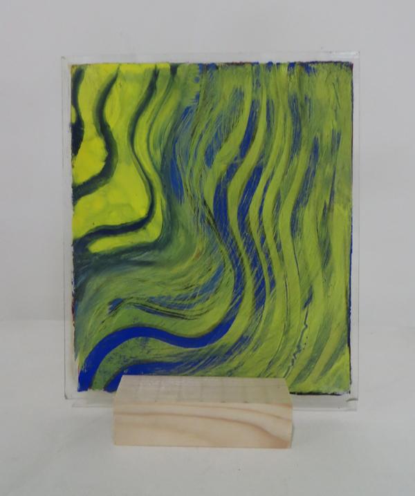 Z.t., 2018, 22x26,3 cm, silicaatverf op glas