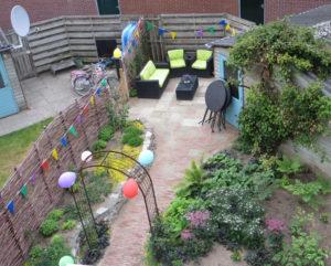 Ontworpen tuin, 1,5 na aanleg, zomer 2018