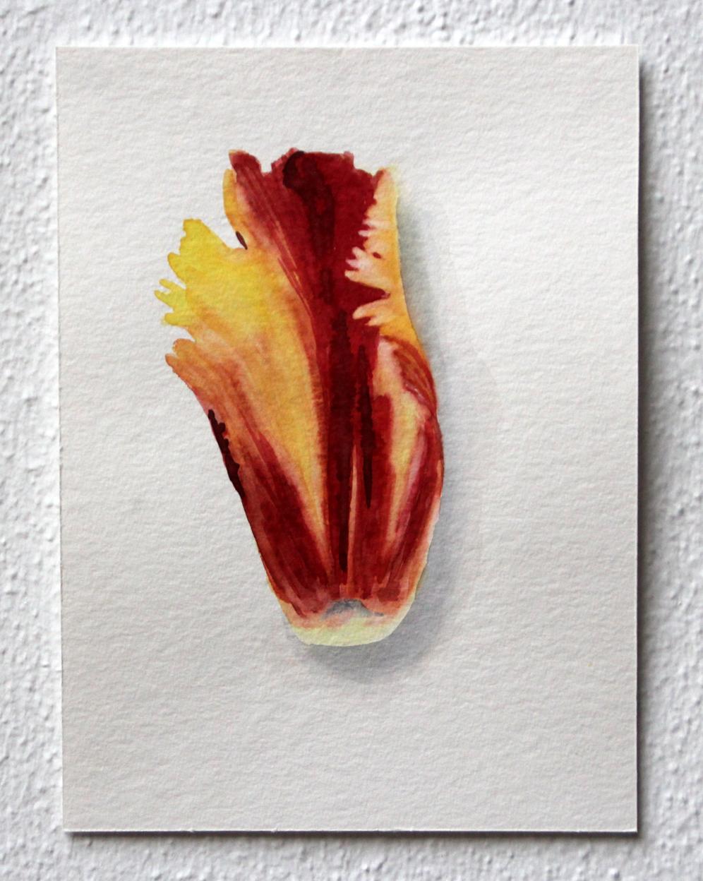 Gebloeid #2, 2020, 15x30,3 cm, aquarel op papier - Verkocht