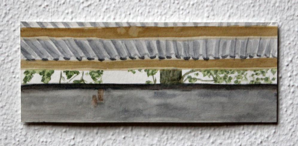 Doorkijkje #2, 2020, 7,5x19 cm, aquarel op papier