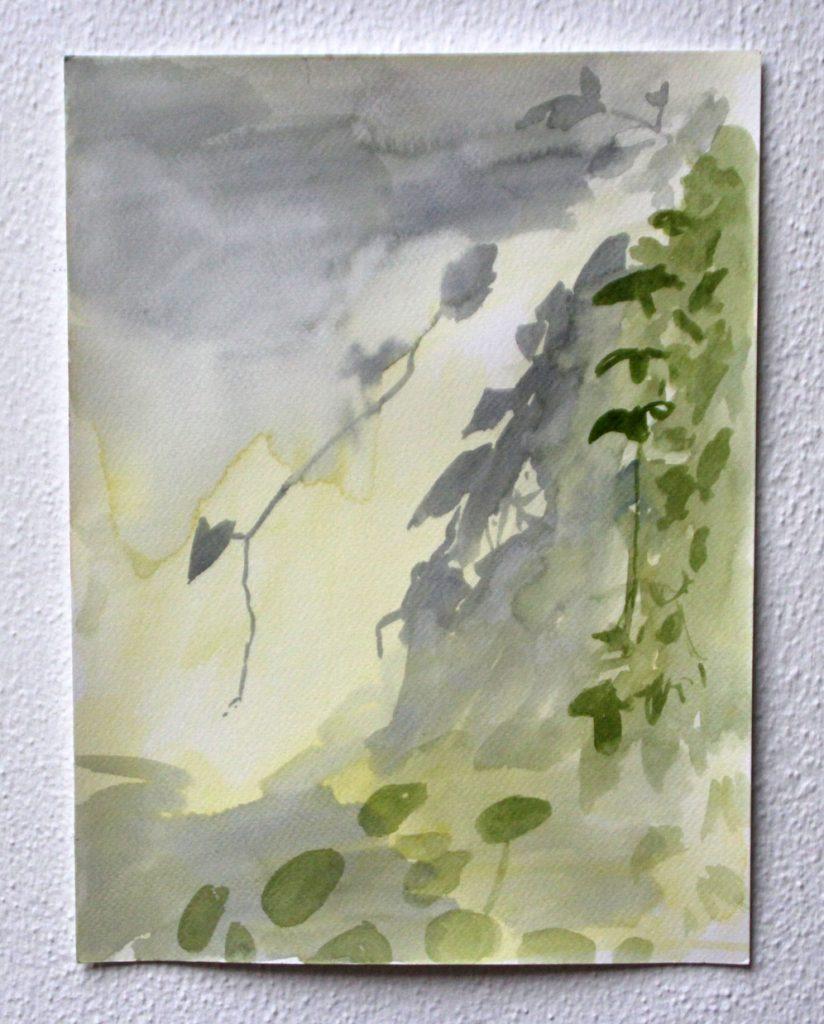 Wat licht inademt, 2020, 23,9x31,8 cm, aquarel op papier