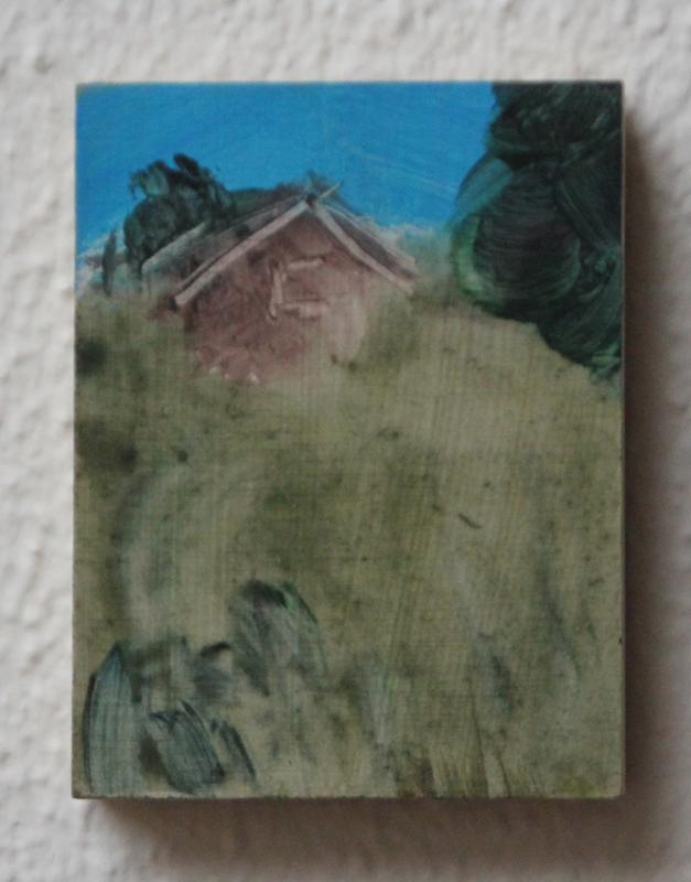 Groeiend, 2020, 6,2x8 cm, acryl op paneel