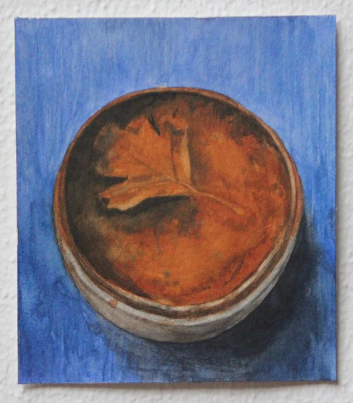 Roest, 2020, 12,5 x 14,3 cm, aquarel op papier
